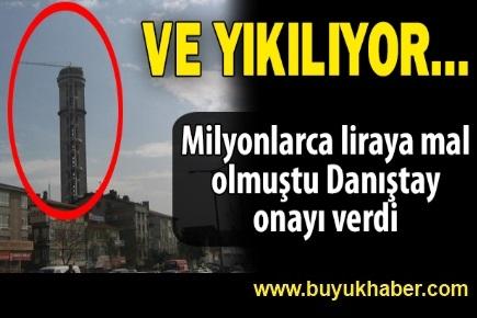 Cumhuriyet Kulesi yıkılıyor